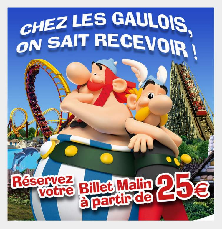 parc asterix billet